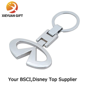 Custom Logo Nickel Plating Trolley Coin Keyring Keychain