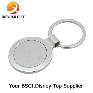 Custom Logo Nickel Plating Round Shape Token Coin Keychain