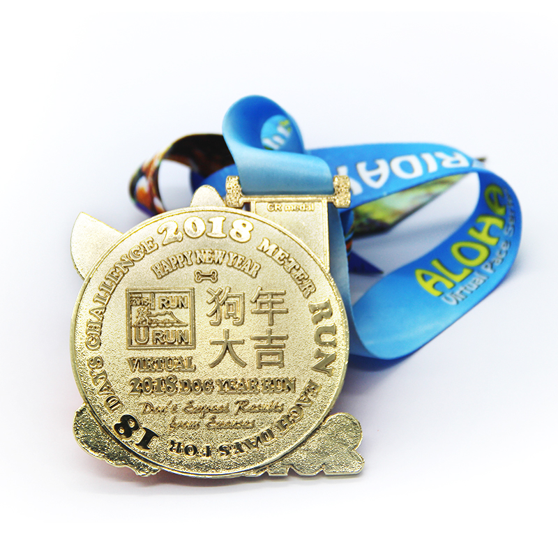 Wholesale custom cheap hollow shiny blanks souvenir marathon gold medal
