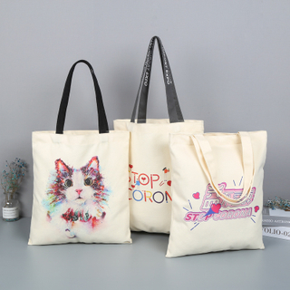 Canvas Shopping Bag Printed Custom Logo
