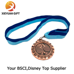 Beautiful High Quality Silk Screen Ribbon Medal Sport