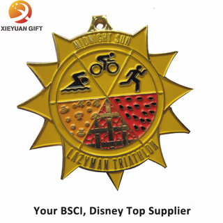 Custom Triathlon Sport Metal Medal with Sample Free