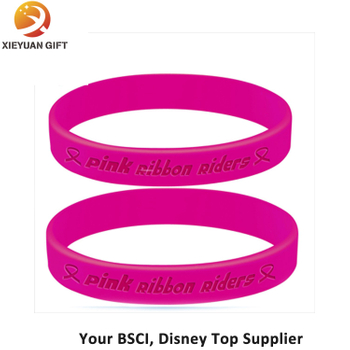 Two Pink Silicone Wristbands Replacement Activity Bracelet Sport Wristband