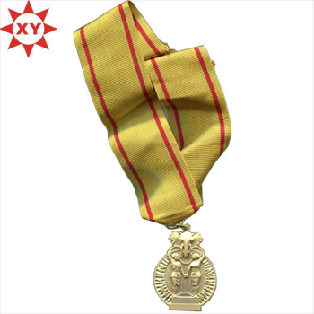 Yellow Riboon Die Casting Soft Enamel Medals