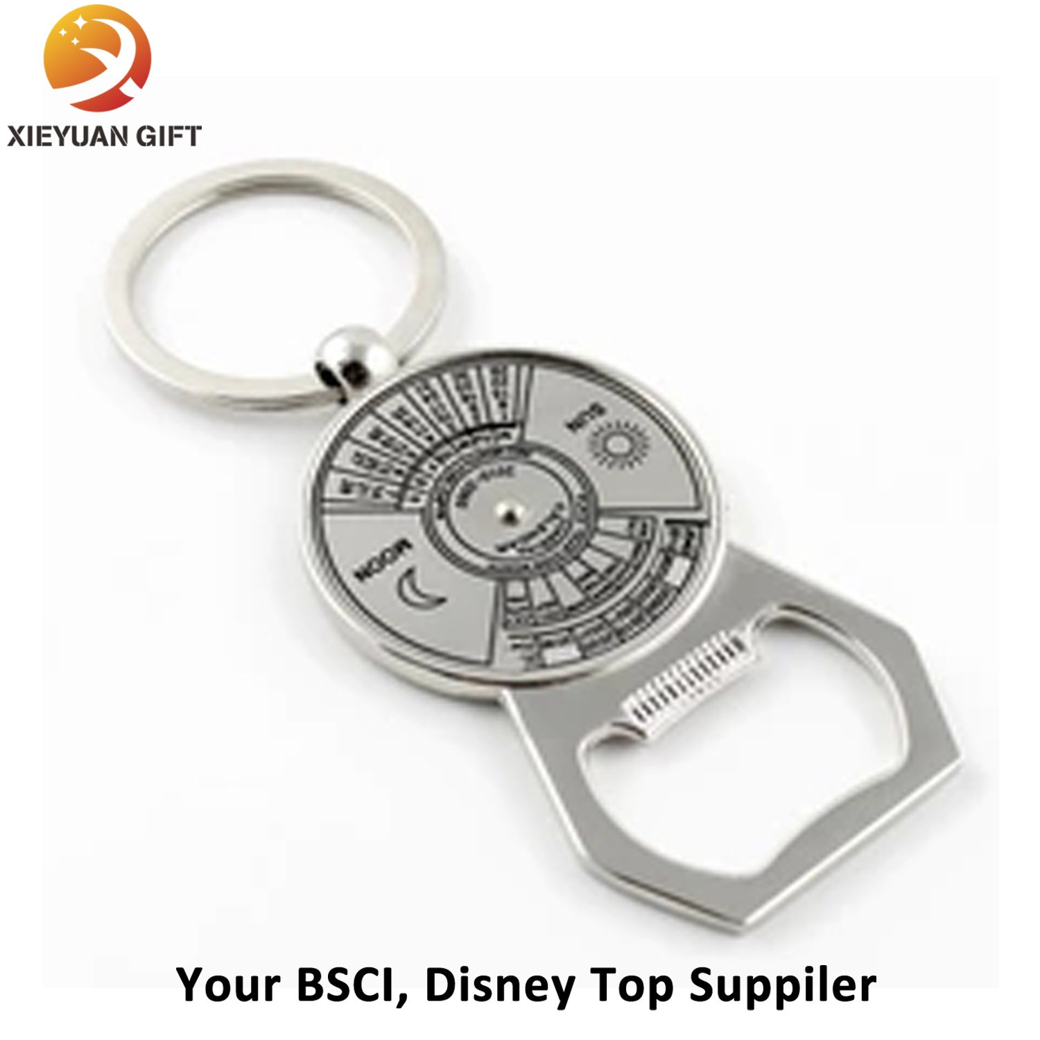 Custom Logo Zinc Alloy Metal Bottle Opener Keychain