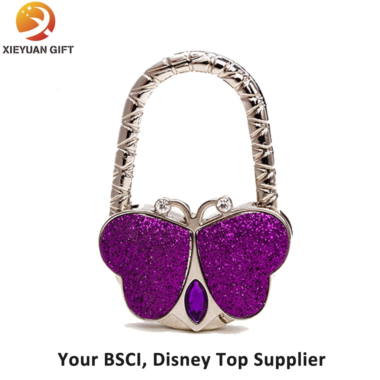 Well Selling Round Rhinestone Bag Hook for Promotion Gifts