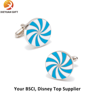 Soft Enamel Process Stainless Steel Cufflink for Gifts