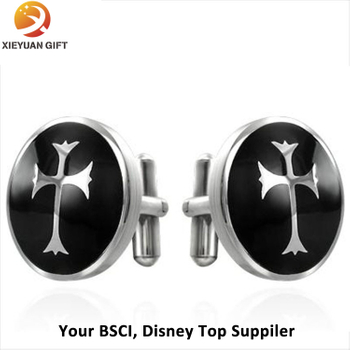 2015 Round Shape Hot Sell Custom Engravable Cufflinks