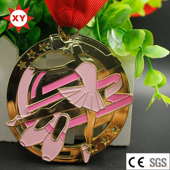 Medal Factory Directly Sell Ballet Dance Medal with Ribbon