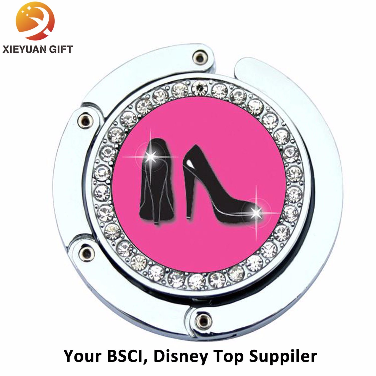 Printed Logo Metal High-Heeled Shoes Bag Hanger