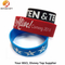 Black, Blue and Red Silicon Wristband Size for Adults