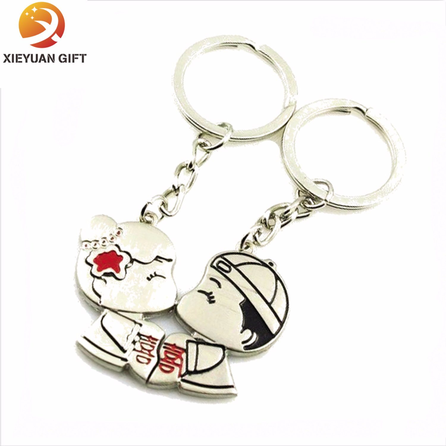 Zinc Alloy Gold Plated Brass Key Ring for Gifts (XY-mxl91006)