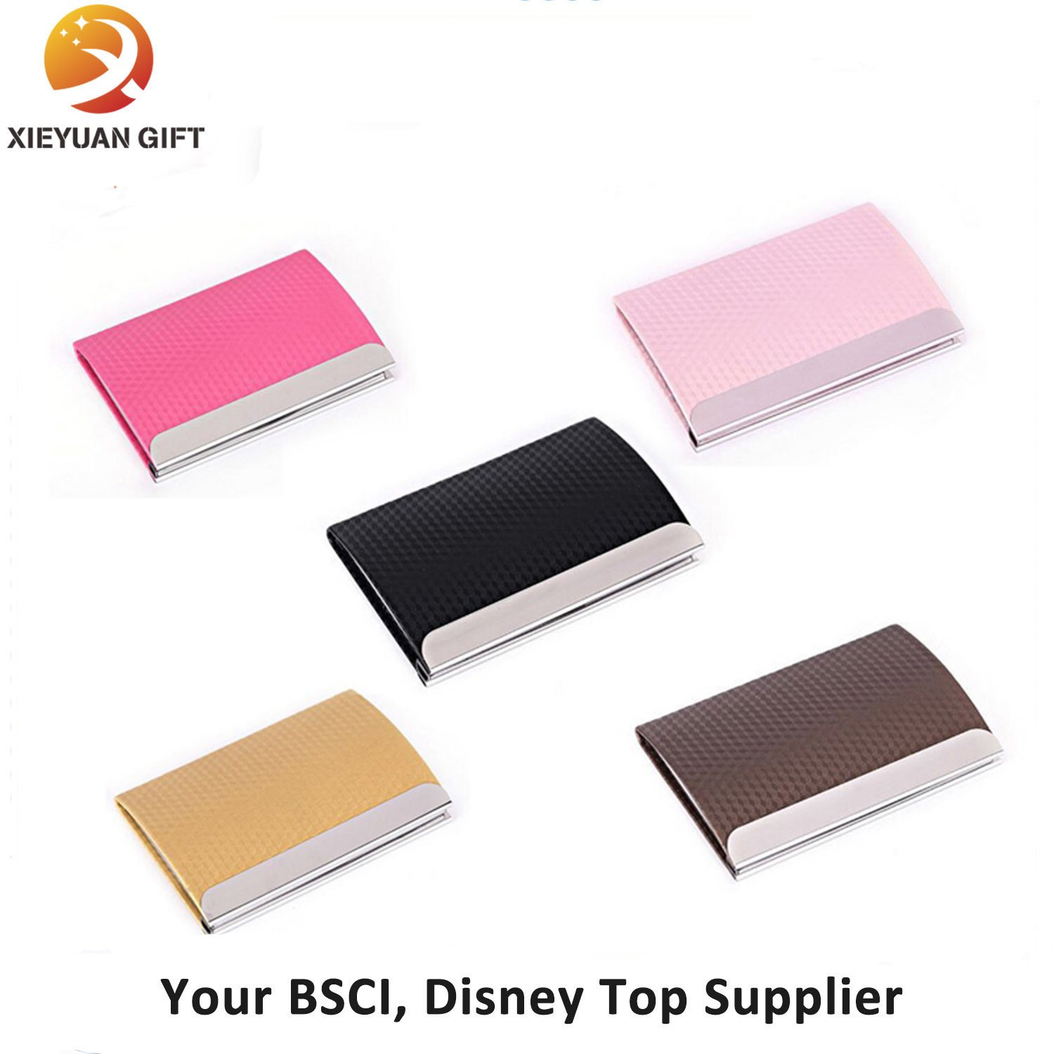 Custom Color Laser Logo Leather Card Holder for Gifts