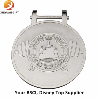 Wholesale Cheap European Powerlifting Sport Metal Medal with Stand Holder