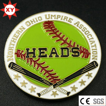 Custom Metal Souvenir Baseball Coin for Club