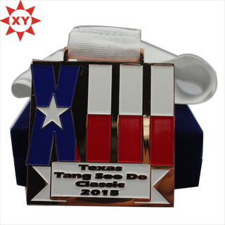Wholesale White Ribbon Star Metal Medals