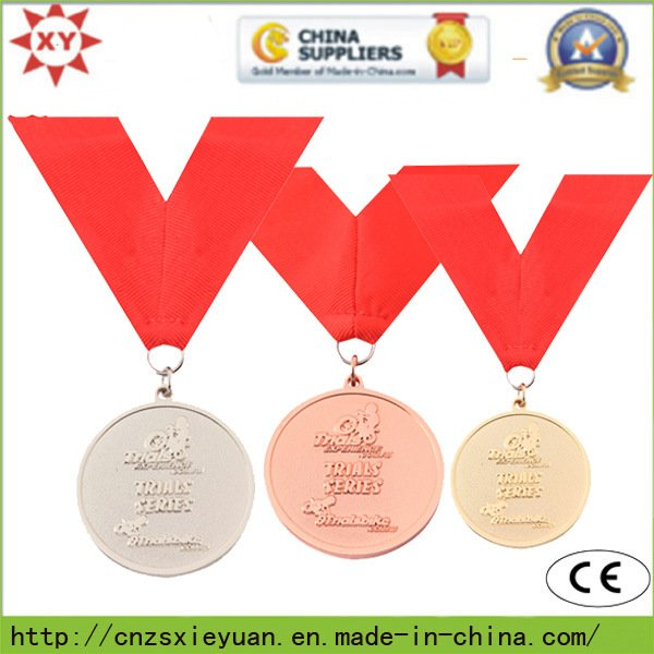 Gold Custom Medallion with Ribbon