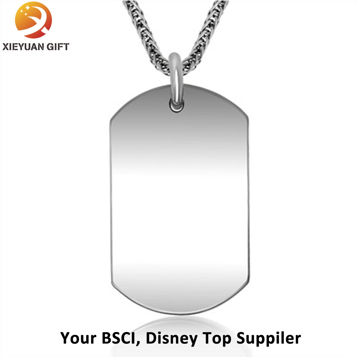 Custom Metal and Silicone Dog Tag (xy-453)