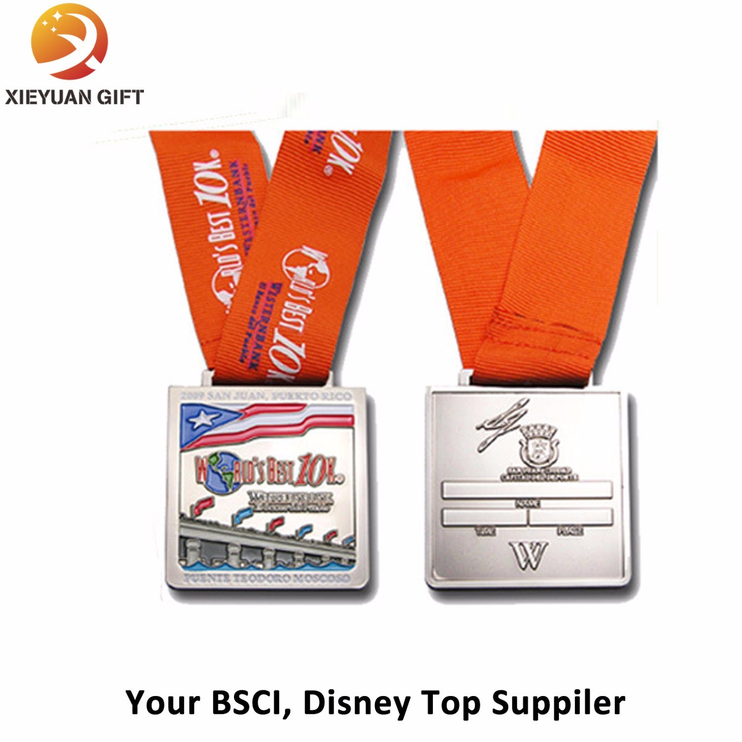 BSCI Factory Suuply Custom Metal Sport Medal