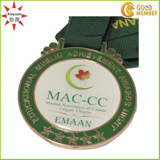 Custom Epoxy Coating Sticker for Metal Medals of Canada
