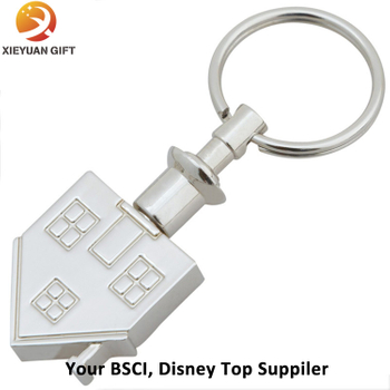 Making 3D Trinket Decorative Metal House Keychain Hot Sale