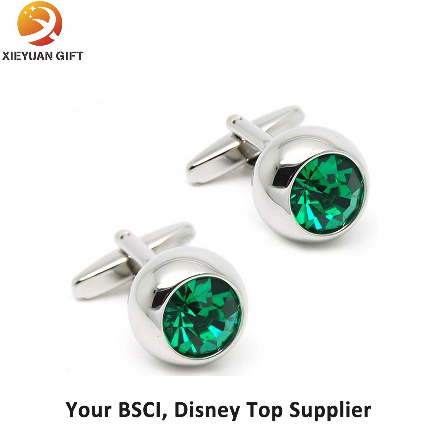 Hot Sale New Design Logo Rose Gold Cufflinks for Boys