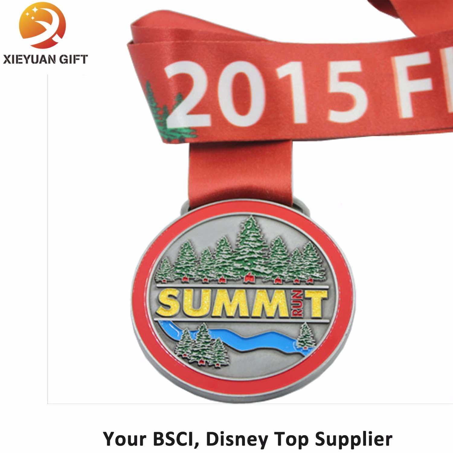 2015 Summt Custom Antique Soft Enamel Medal with Ribbon