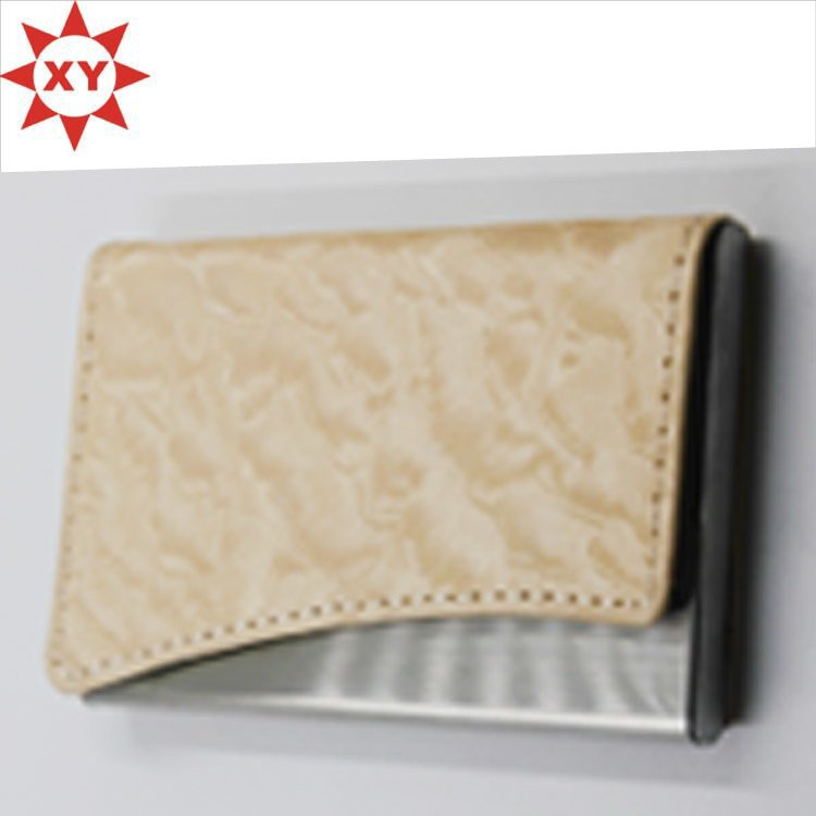 Promotion Cream-Coloured Leather Name Card Business Card Holder