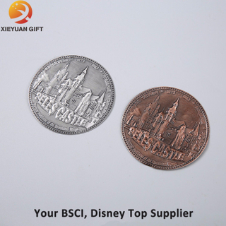 Metal Zinc Alloy Printed Colored Coin with Epoxy Coating