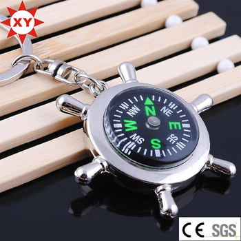 Hot Sell Product Metal Compass Keychain for Gifts