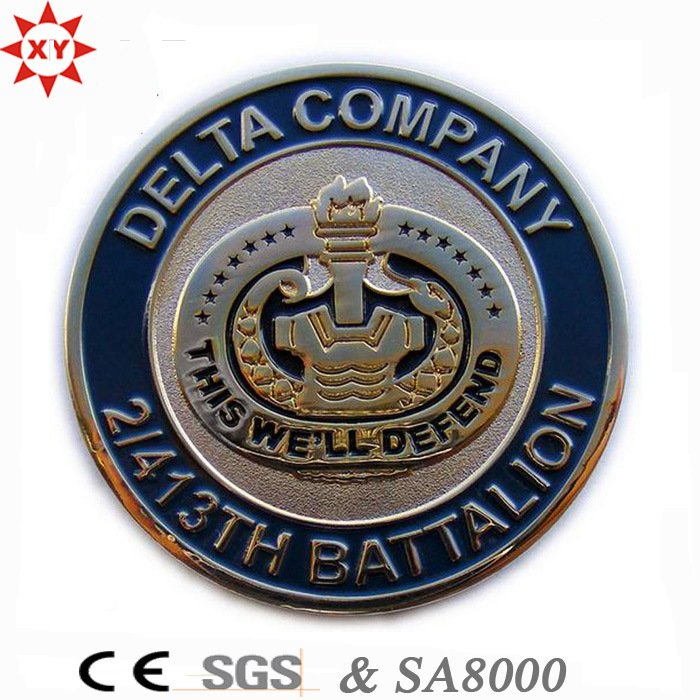 Custom 3D Design Army Challenge Metal Coin