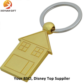 Factory Directly Supply House Shape Promotional Keychain