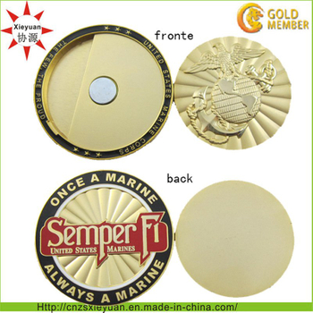 3D Gold Metal Coin with Magnet