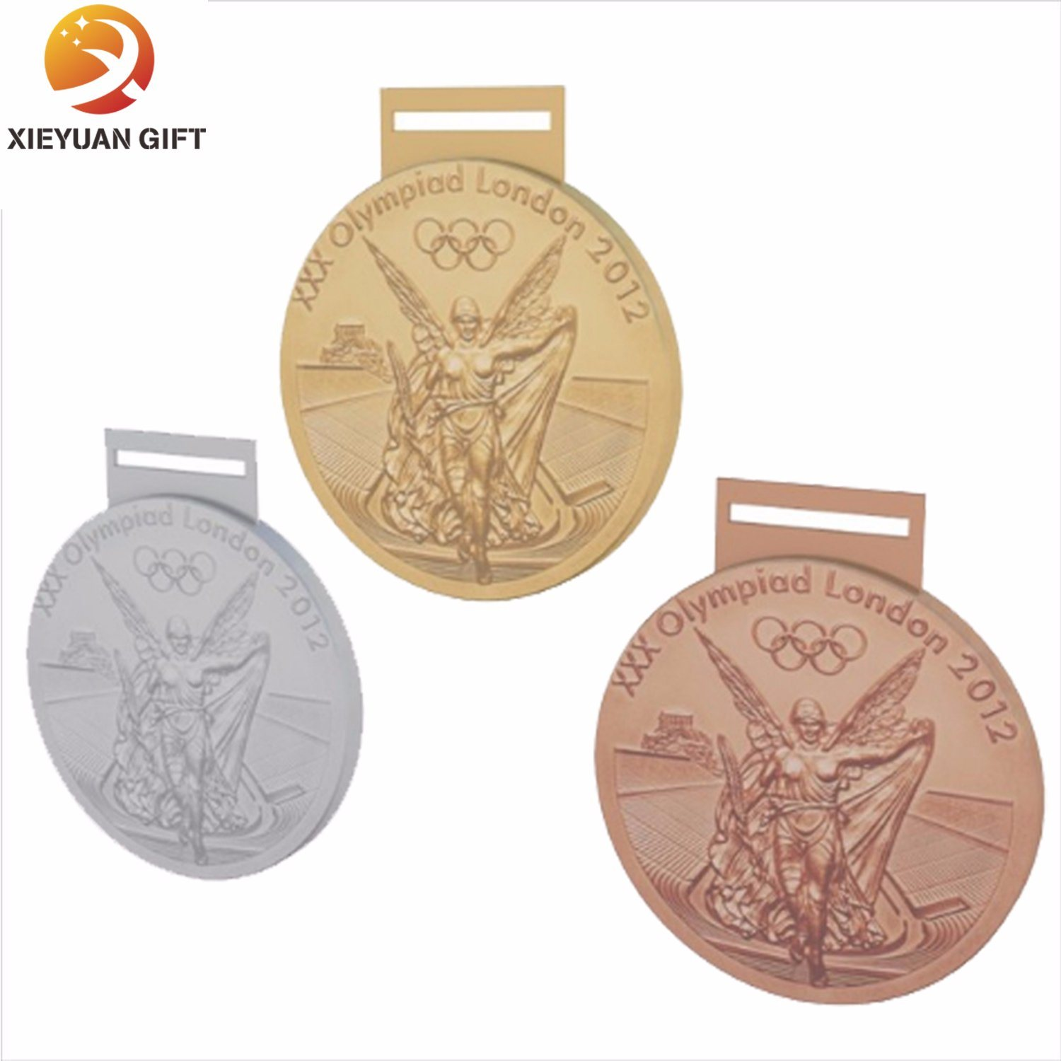 Promotional Cheap Nickel Plated Medallion with Ribbon (XY-MXL73003)