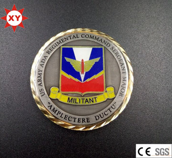 Custom Challenge Coin with Gold Plated