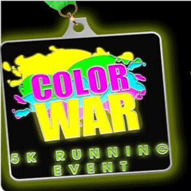 Glow Medal with SGS Certification for Running Event