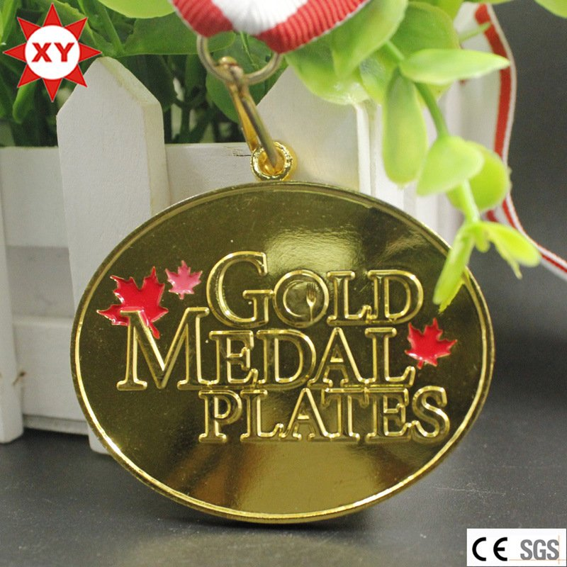 Hot Sell Brass Gold Plated Medals (XYmxl100802)