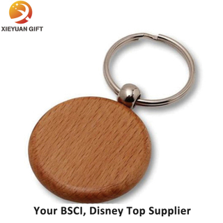 Promotional Round Blank Wooden Keychain Wholesale