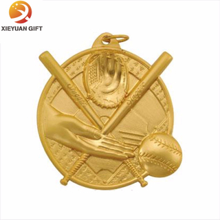 Gold metal customized baseball medals made in China(XYmxl81804)