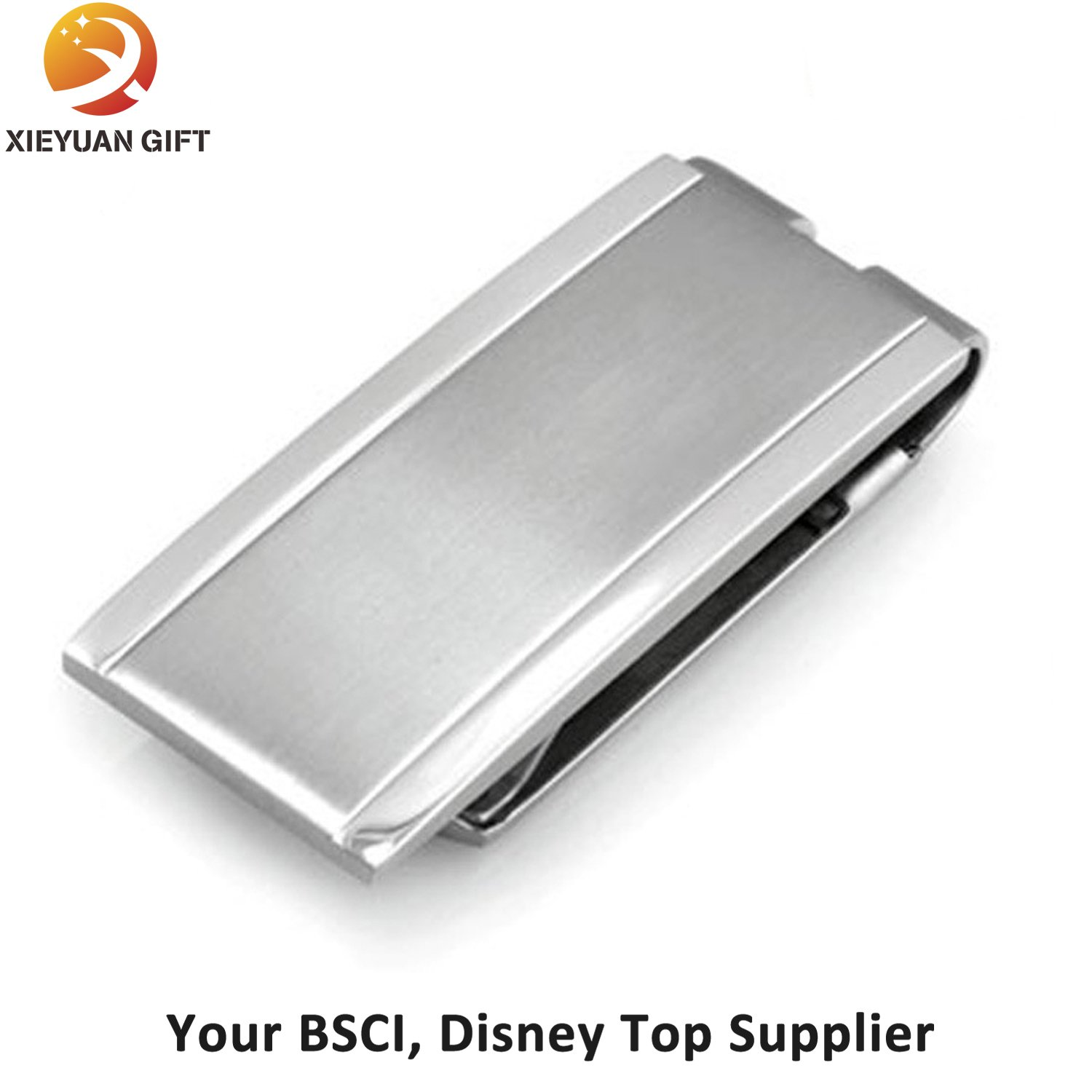 Wholesale Cheap Zinc Alloy Casting Nickel Money Clips with Customized Logo