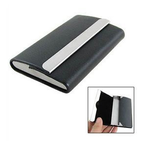 Double Sides Leather Metal Business Card Holder
