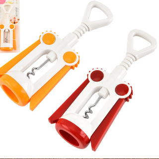The high quality red and yellow rotary wine opener produced by the factory directly