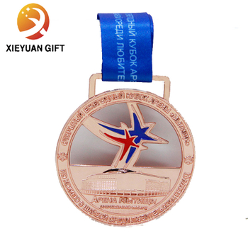Factory Direct Custom Pentagram Gold Sport 3D Medal