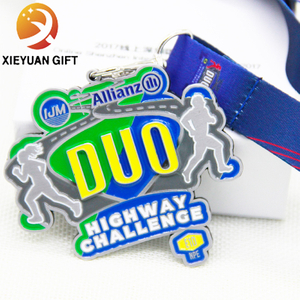 High Quality Double Peopel Runing 3D of Sport Metal Medal
