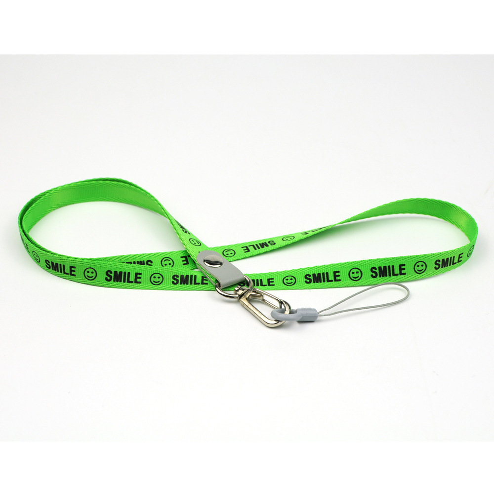 China Factory Custom Polyester Badge Reel green Lanyard